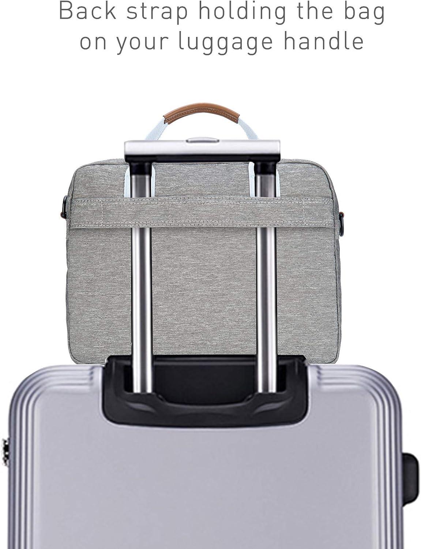 colore: nero N-5923 C 15 Inch impermeabile Borsa a tracolla per laptop da 15 pollici con cinghie regolabili resistente agli urti Kamlui