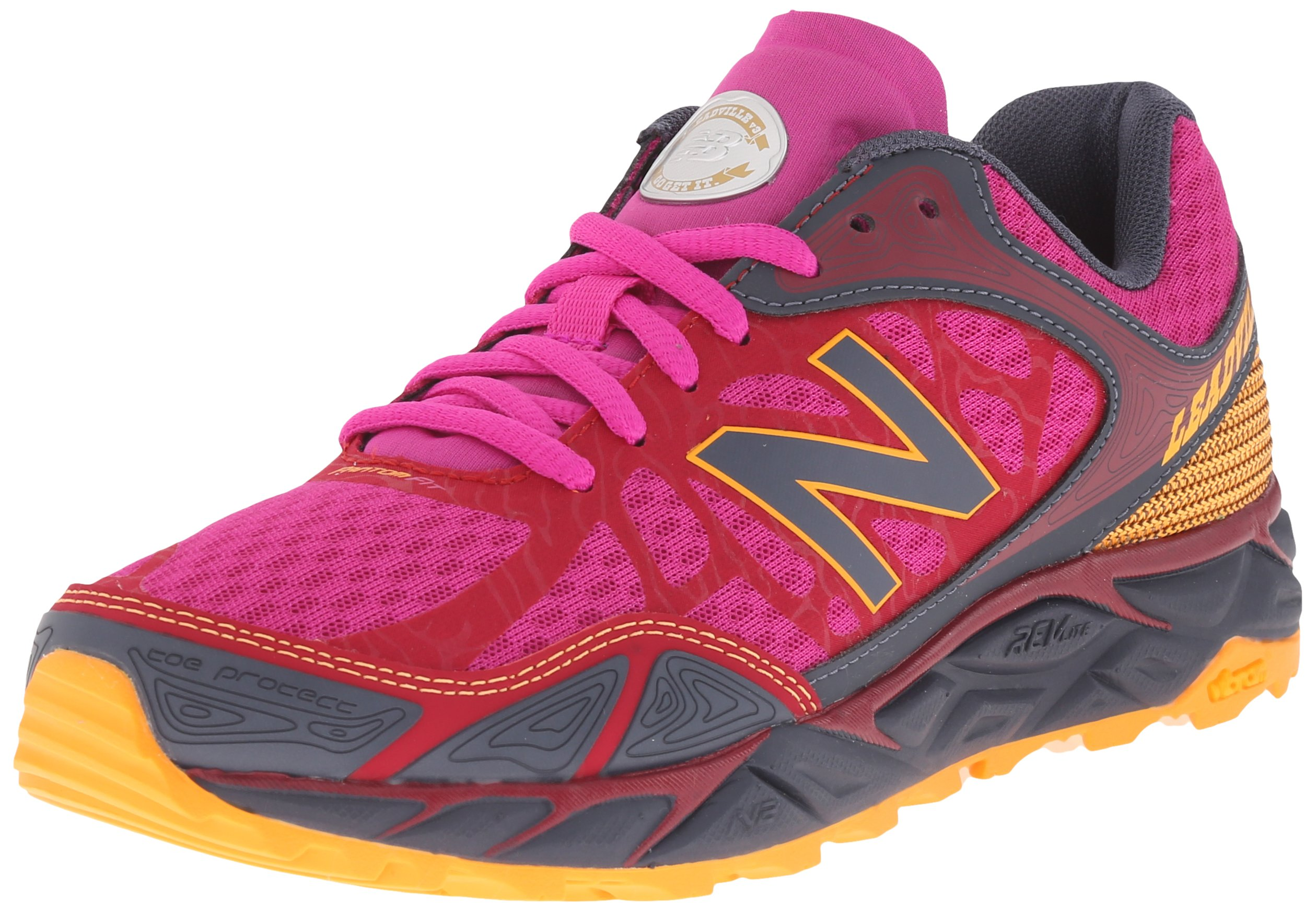 New Balance Women's Leadvillev3 Trail Shoe, Pink/Grey, 6 B US