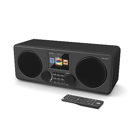 Majority Pembroke II Digital Dab/Dab + / FM y Radio por Internet - Bluetooth - Spotify - Entrada USB y AUX (Negro)