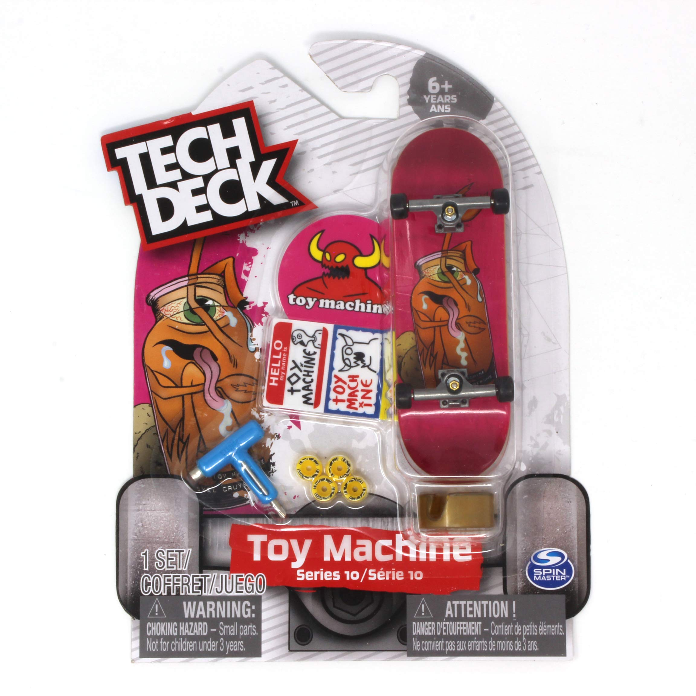 Tech Deck Toy Machine Skateboards Rare Series 10 Sect Jar Pink Fingerboard