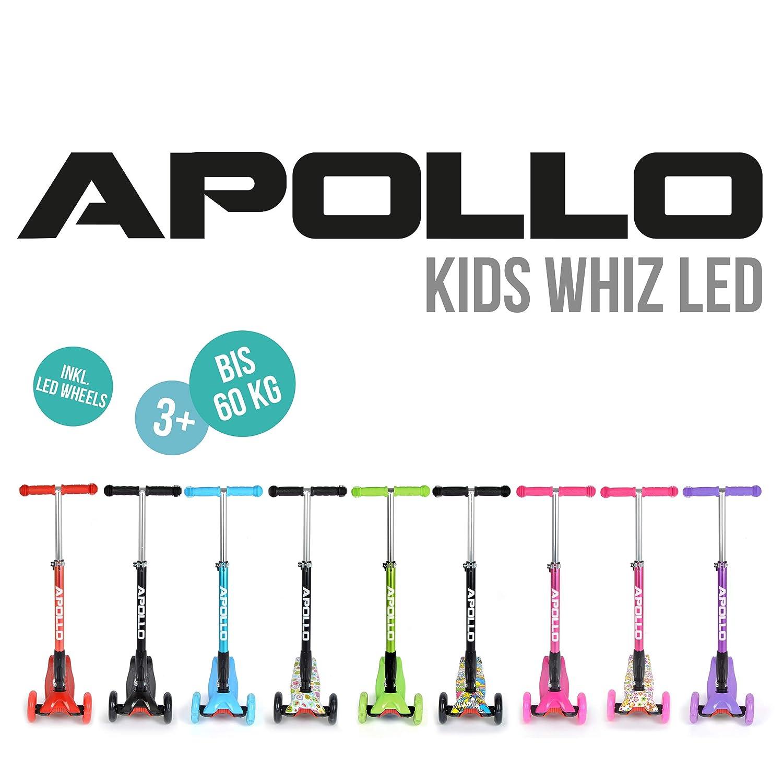 Apollo Patinete - Kids Whiz LED - Plegable - Ajustable en ...