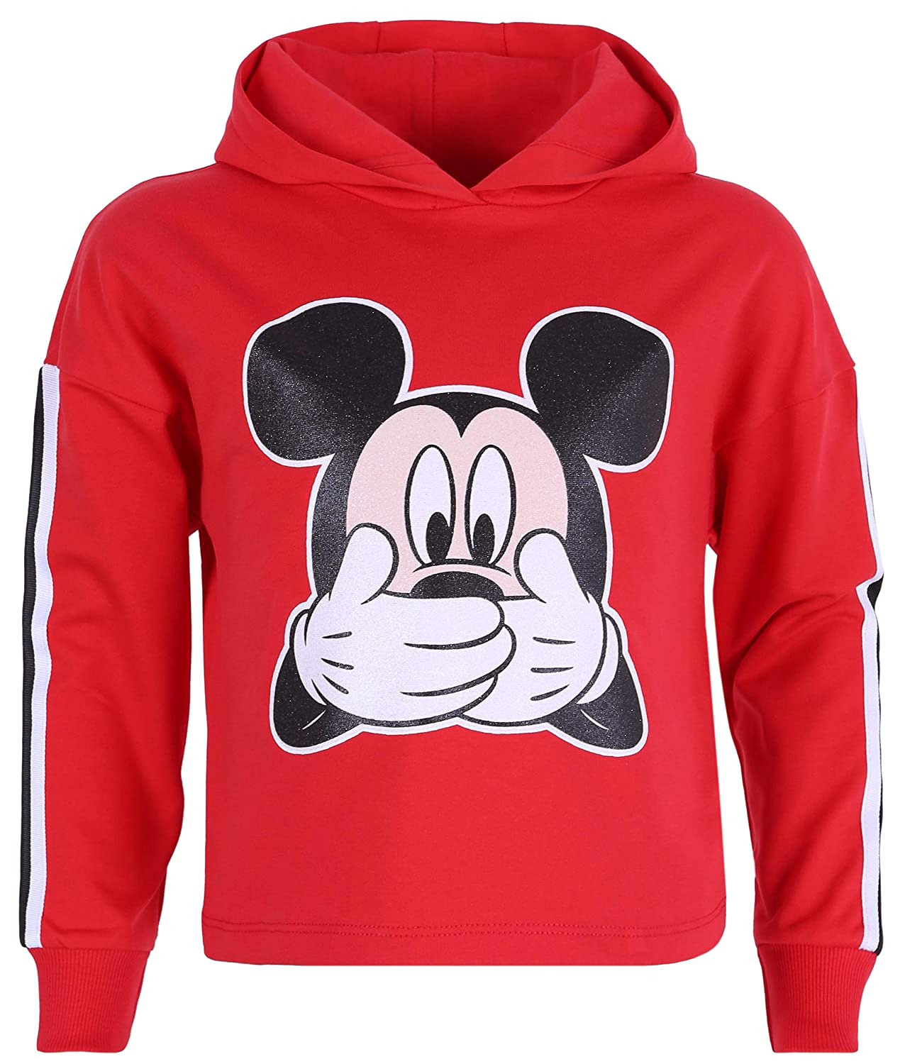 Long Sleeved Top Hooded Red Sweatshirt for Girls Mickey Mouse Disney