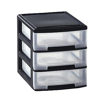 Amazon De Curver Babel Kommode A4 3 Schublade Plastik Black 1 1 X