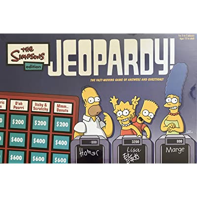 The Simpsons Edition Jeopardy! Game w 1700+ Answers & Questions, CLICKERS, Instructions & More (2003): Toys & Games
