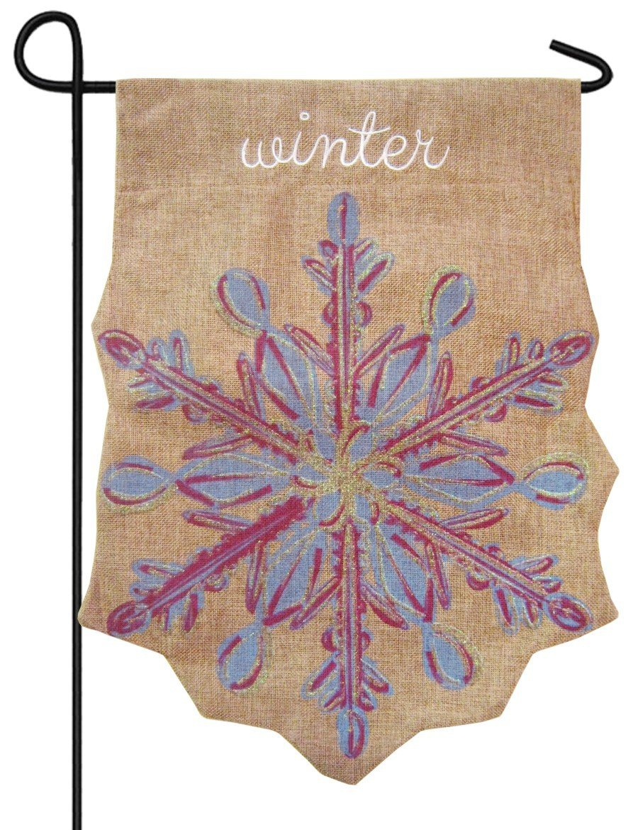 amazon com snowflake winter embellished shaped burlap garden