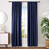 "AmazonBasics Blackout Curtain Set - 42"" x 96"", Navy"