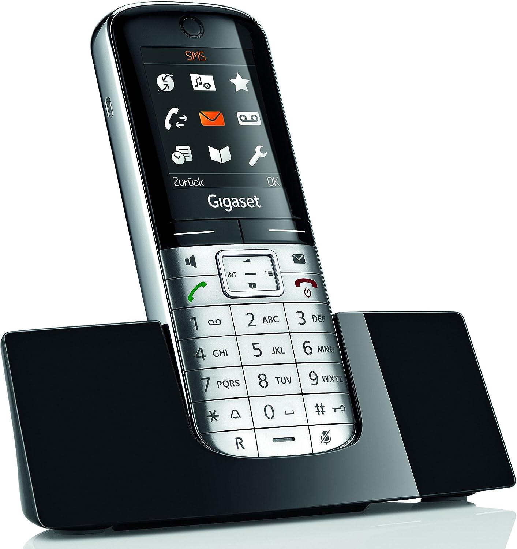 Gigaset SL 350 Tel/éfono anal/ógico, Terminal inal/ámbrico, Altavoz, 500 entradas, Identificador de Llamadas, Plata Tel/éfono
