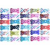 """Yagopet 20pcs/pack Puppy Cat Dog Hair Bows with Clips 1"""" Min Bone Clips Mixed Colors Dog Topknot Bows Dog Grooming Bows Pet Supplies Dog Bows Dog Hair Accessories"""