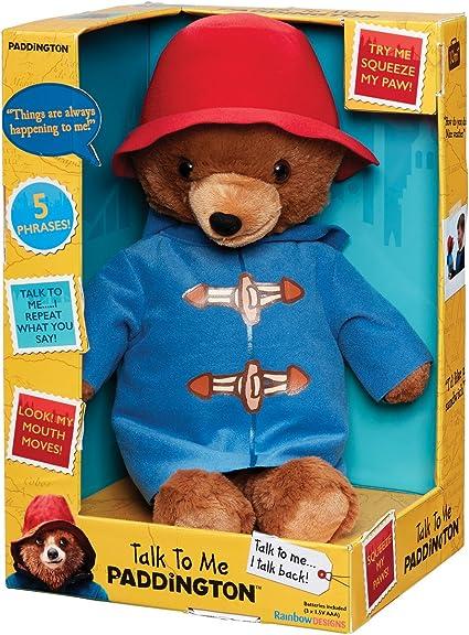 Officially Licensed Children/'s Paddington Bear Talk To Me Soft Plush Toy