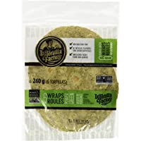 La Tortilla Factory Power Greens Wraps with Spinach, Kale and Chard, 6-Pack of Non-GMO Wraps, 240gm