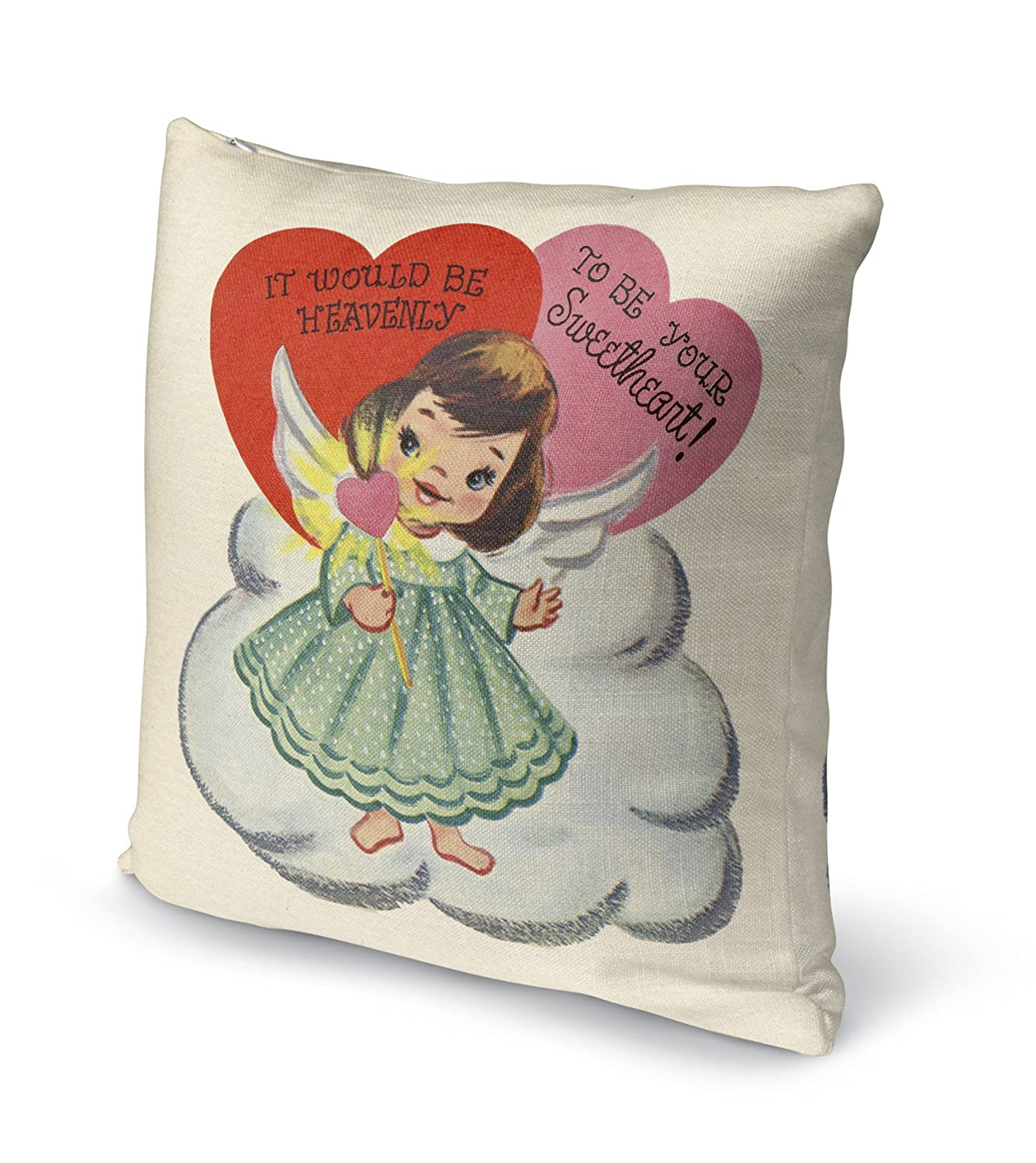 - TRADITIONS Collection KAVKA Designs To Be Your Sweetheart Accent Pillow, Size: 24X24X6 - TELAVC8171DI24 Green//Pink//Red