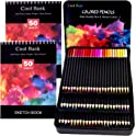 Cool Bank 72-Piece Colored Pencils and Drawing Pads Set