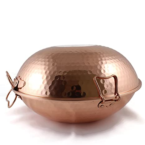 Cataplana original portuguesa en cobre vitroceramica (36 Cm)