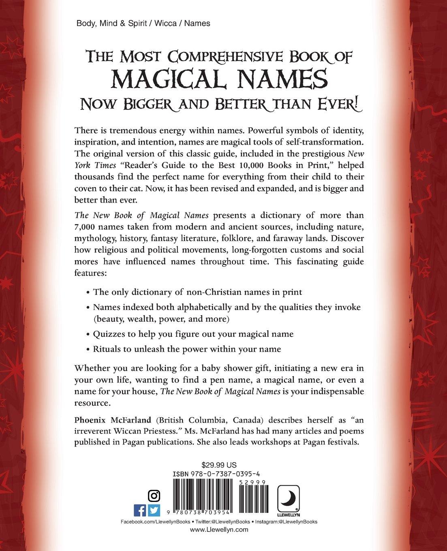 The New Book Of Magical Names Phoenix Mcfarland 9780738703954