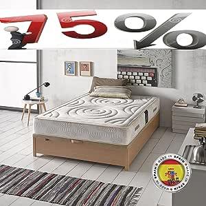 Saemon Colchon Viscoelastico 135x190 Todas Las Medidas Ultra Confort Fabricado en España. Antiacaros. 75% DE Descuento: Amazon.es: Hogar