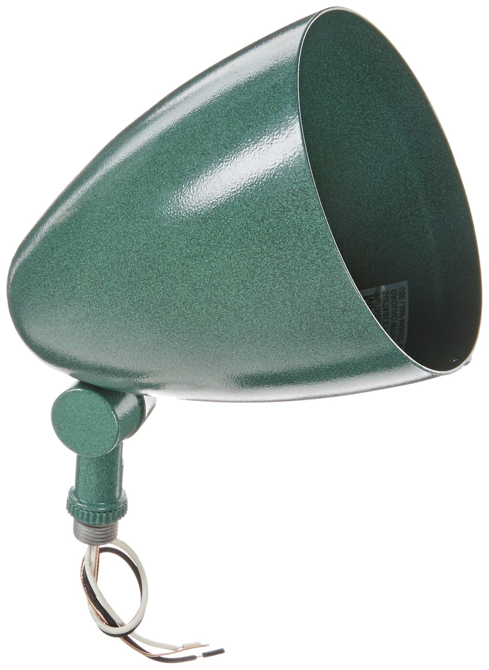 RAB Lighting HB101VG Bullet Shape Par Floodlight, PAR38 Type, Aluminum, 150W Power, Verde Green