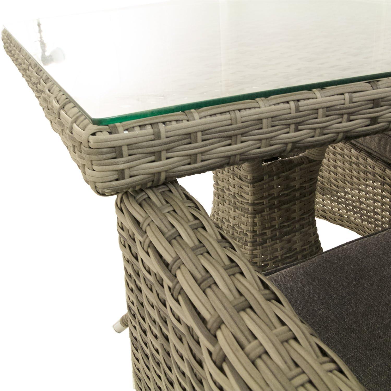 Edenjardi Conjunto Muebles Exterior, Mesa Cuadrada 70 cm y 2 ...