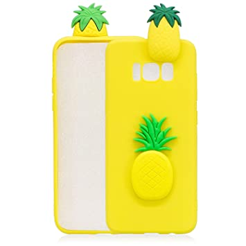coque galaxy s8 3d mignon ananas