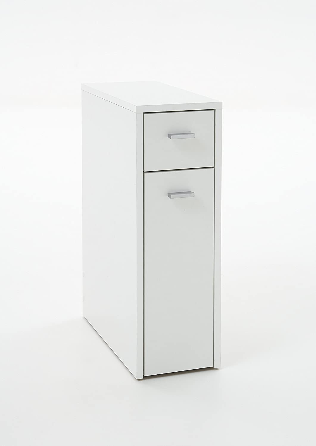 SALANCA Premium Bathroom/Kitchen Storage Cupboard Cabinet Unit in White Small Drawer u0026 Large Pull-Out Storage Cupboard Amazon.co.uk Kitchen u0026 Home : slimline bathroom storage  - Aquiesqueretaro.Com