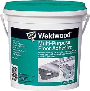 DAP 142 00142 Weldwood Multi-Purpose Floor Adhesive, Gallon, White