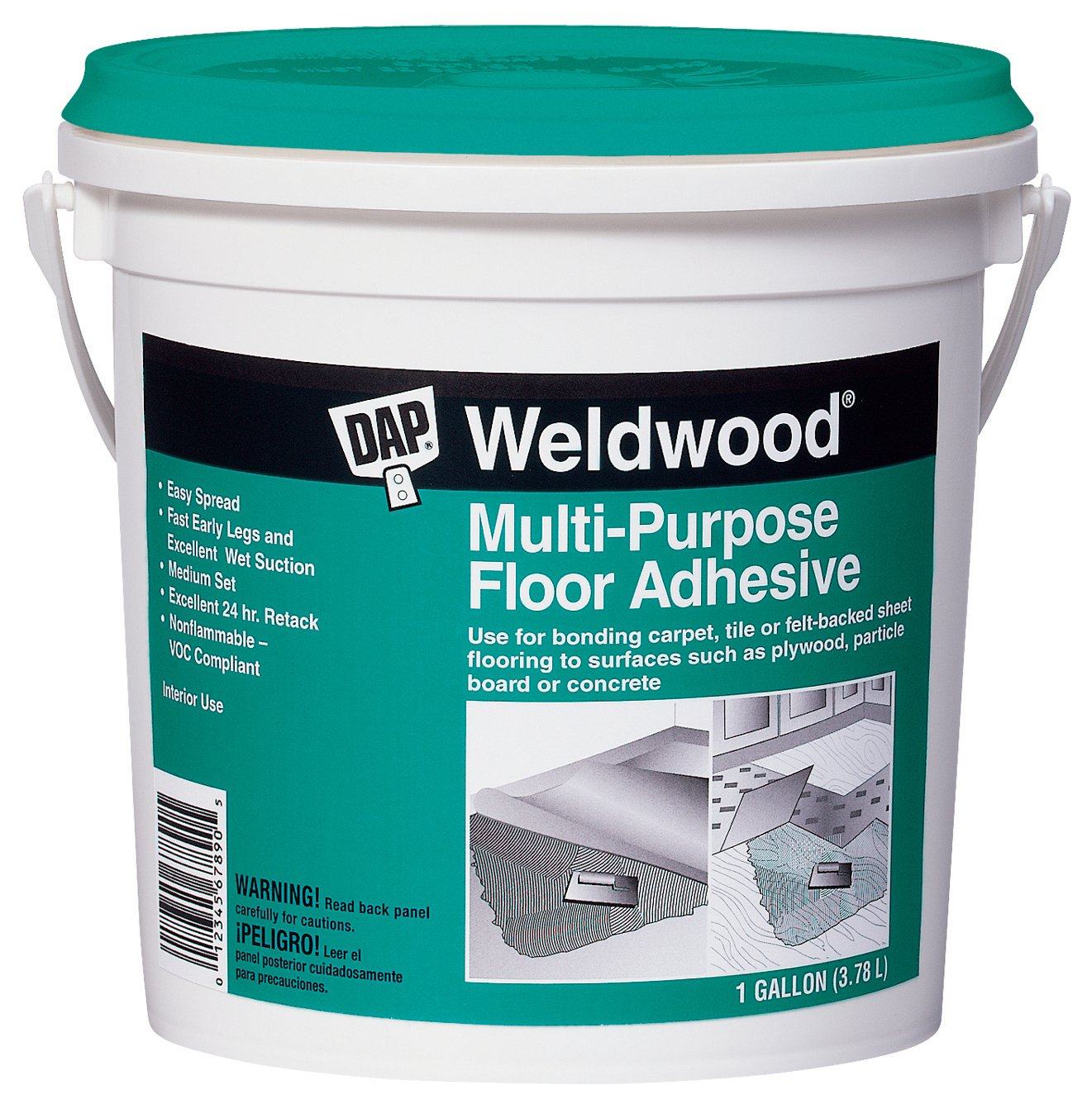 Amazon.com: Dap 00141 Multi-Purpose Floor Adhesive, 1-Quart: Home ...