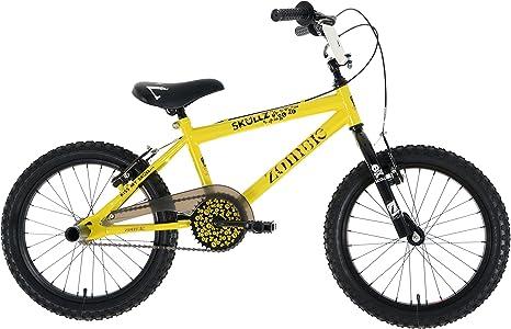 Zombie Skullz - Bicicleta BMX Infantil, para niños de 6 años, Color Amarillo y Negro: Amazon.es: Deportes y aire libre