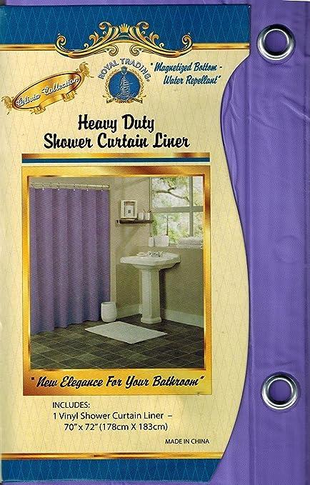 Fayari Solid Bathroom Repellent Vinyl Plastic Shower Curtain Liner Metal Grommets Magnets 70quot X