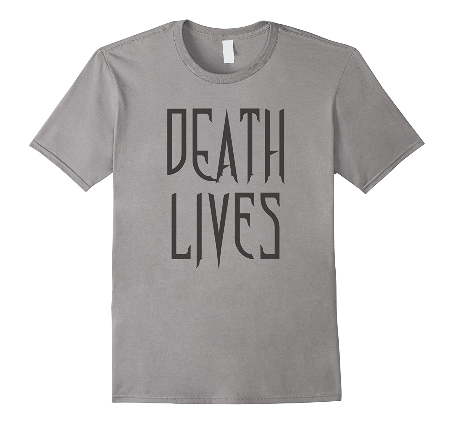 Death Lives Gothic Printed Graphic Text T-Shirt-Art