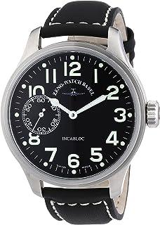 Zeno Mens 8558-9-A1 OS Retro Win Black Large Dial Watch