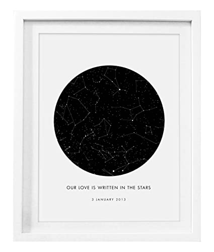 CUSTOM Star Map Amazing Gift Luxury Personalised Sky Format A3 Unique Wedding Anniversary Birthday Present Blessed Amazoncouk
