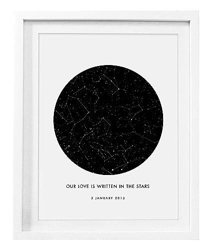 Birthday Star Map.Custom Star Map Amazing Gift Luxury Personalised Star Sky Map Format