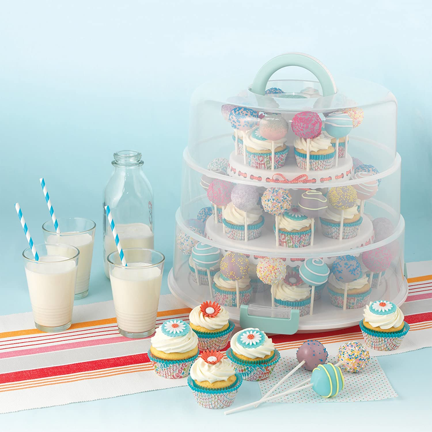 Sweet Creations 3 Tier Collapsible Cupcake And Cakepop