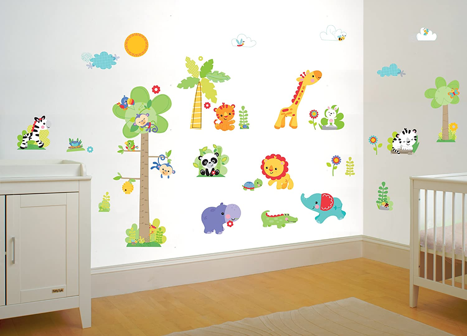 FunTosee Fisher Price Rainforest Nursery Wall Sticker Make Over Kit:  Amazon.co.uk: Baby