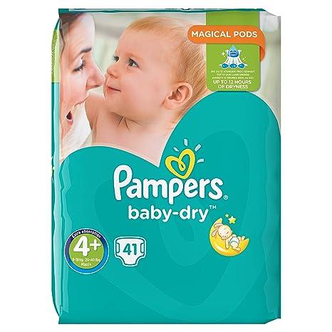 Pampers Baby-Dry Pañales para bebés de 9 a 18 kg, Talla 4,