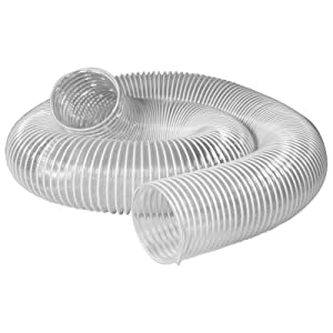 POWERTEC 70143 PVC Dust Collection Hose (4 Inch x 20 Feet) | Flexible Clear Vue Heavy Duty PVC Hose