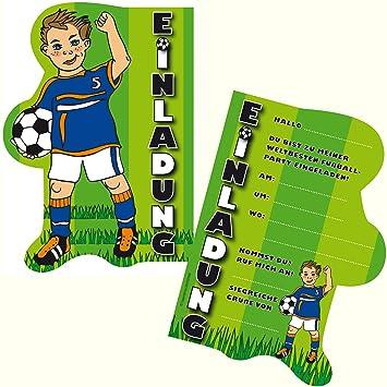 6 Einladungskarten Fussball Fur Kindergeburtstag Und Party Von