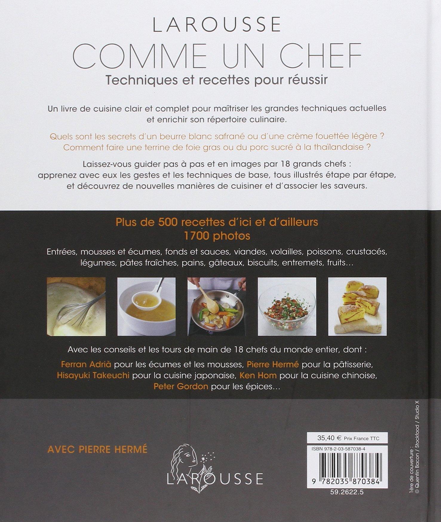 Amazon Fr Comme Un Chef Nouvelle Presentation Pierre Herme