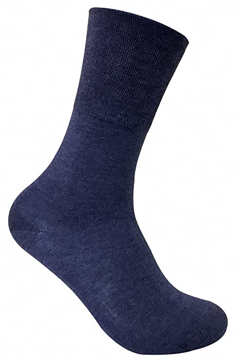 Pack de 3 calcetines térmicos para diabéticos y mala circulación. Para mujer. Tobillo estrecho, sin elástico, Azul THRDIAL01 37-42: Amazon.es: Ropa y ...