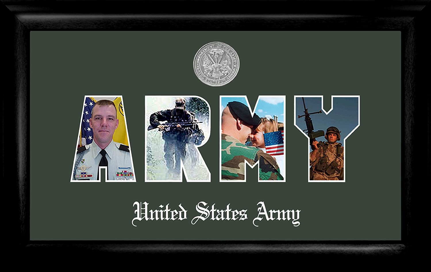Patriot Frames Army Collage Photo Frame Medallion Silver ARSSG001
