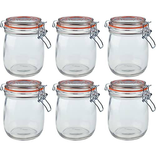 3x Glass Jars With Coloured Lids and Spoons Tea Coffee Sugar