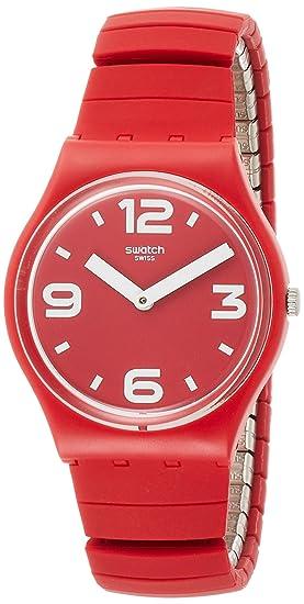 Swatch Reloj Analogico para Hombre de Cuarzo con Correa en Silicona GR173A: Amazon.es: Relojes