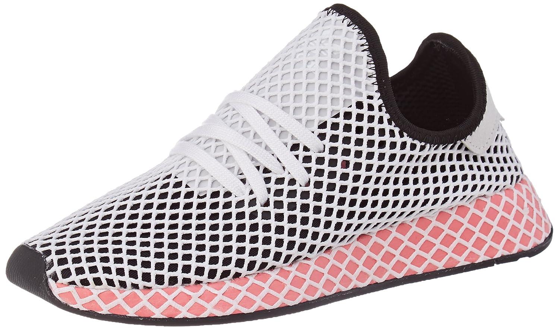 Adidas Deerupt Runner W, Zapatillas de Gimnasia para Mujer 38 EU|Negro (Core Black/Core Black/Chalk Pink S18)