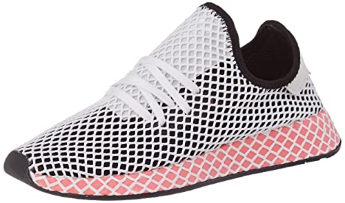 finest selection 924a4 9ec67 adidas Deerupt Runner W, Scarpe da Ginnastica Donna, Nero Core Black Chalk  Pink