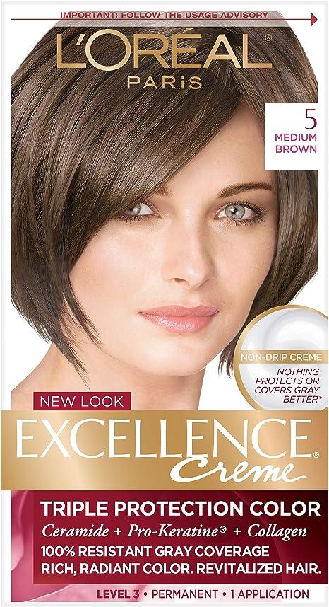 LOREAL - Excellence Color Creme 5 Medium Brown - 1 Application