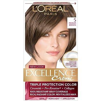 Amazon.com: L\'Oréal Paris Excellence Créme Permanent Hair Color, 5 ...