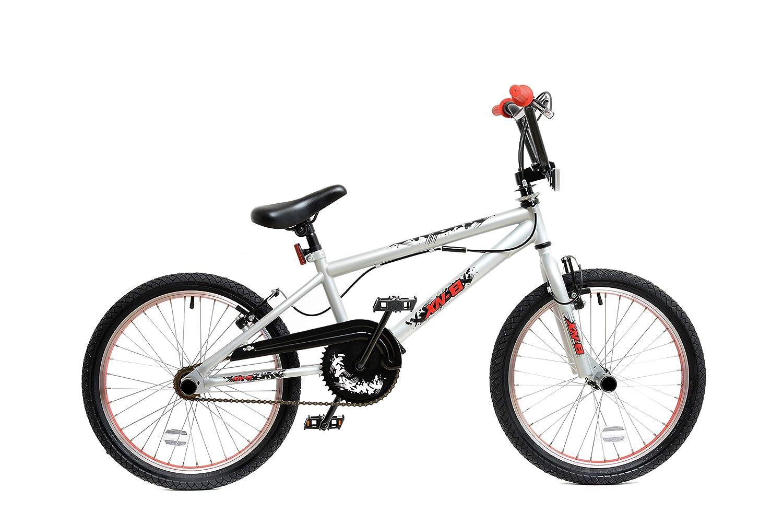 XN BMX 20 Spoked Wheel Freestyle Bike Gyro Stunt Pegs Kids Boys Girls Mens
