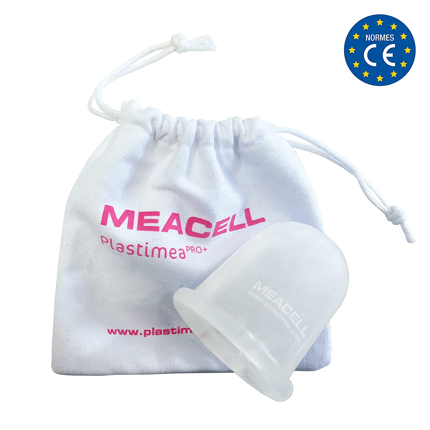 MEACELL - Silicone Cupping - Anti Cellulite Massage Cup - 100% Hypoallergenic Silicone - only 5 min per day - Revolutionary and Natural way to remove orange peel skin Plastimea Pro +