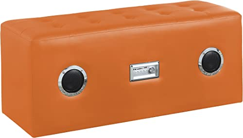 Major-Q Modern Orange Bluetooth Speaker Sound Lounge Bench
