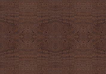 Piel vegana de corcho / Tela de corcho para hacer manualidades, monederos, etc. Alternativa vegana al cuero - 50 cm x 35 cm - Varios colores (Marrón)