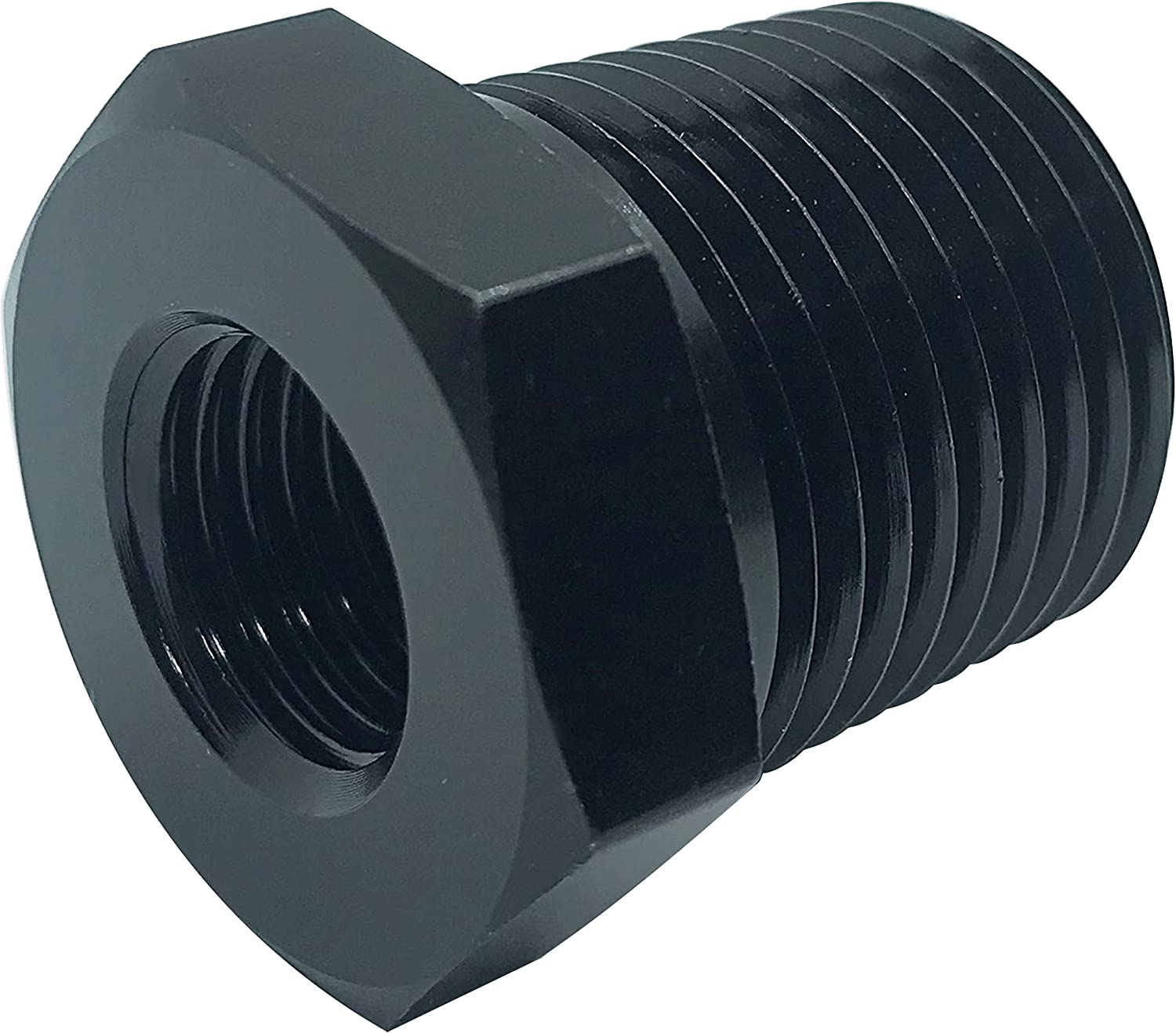 3//8 NPT Female to 1//8 Male NPT Hose Reducer Union Fitting Adapter Hex Bushing 3//8-1//8 NPT Reducing Pipe Aluminum Anodized Black